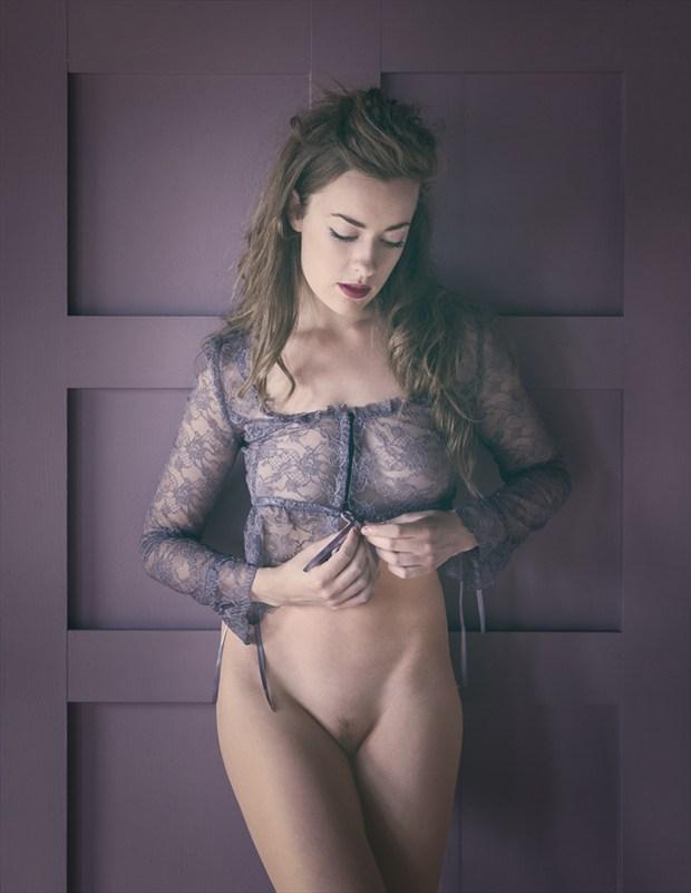 Lavender Panels Artistic Nude Artwork by Model Rosa Brighid