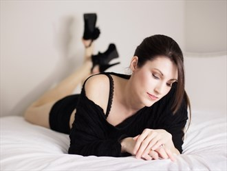 Laying looking down Glamour Photo by Model Xak
