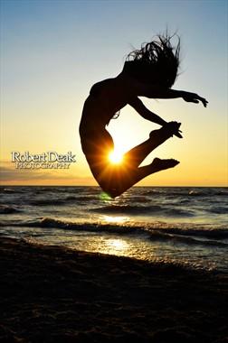Leap of faith Bikini Photo by Model Ashley Elle
