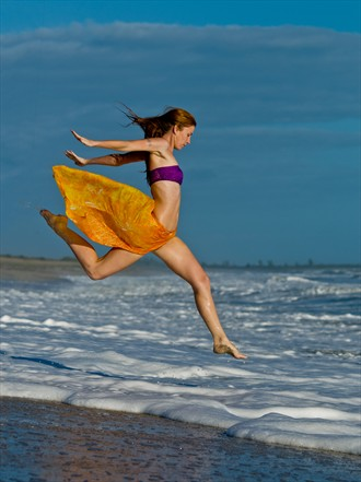 Leaping into the Sea Bikini Photo by Photographer RobertS