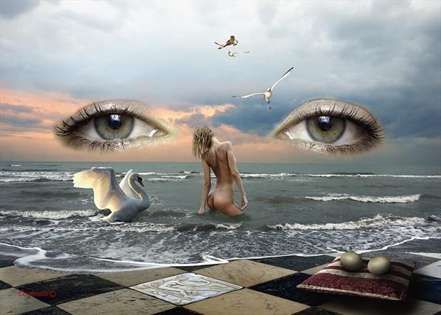 Leda Artistic Nude Artwork by Artist Contesaia