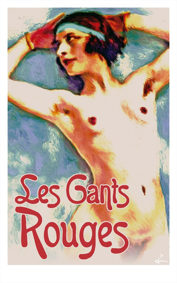 Les Gants Rouges Glamour Artwork by Artist Van Evan Fuller