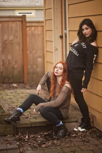 Lesbian Couples Photo by Model Joey Darke