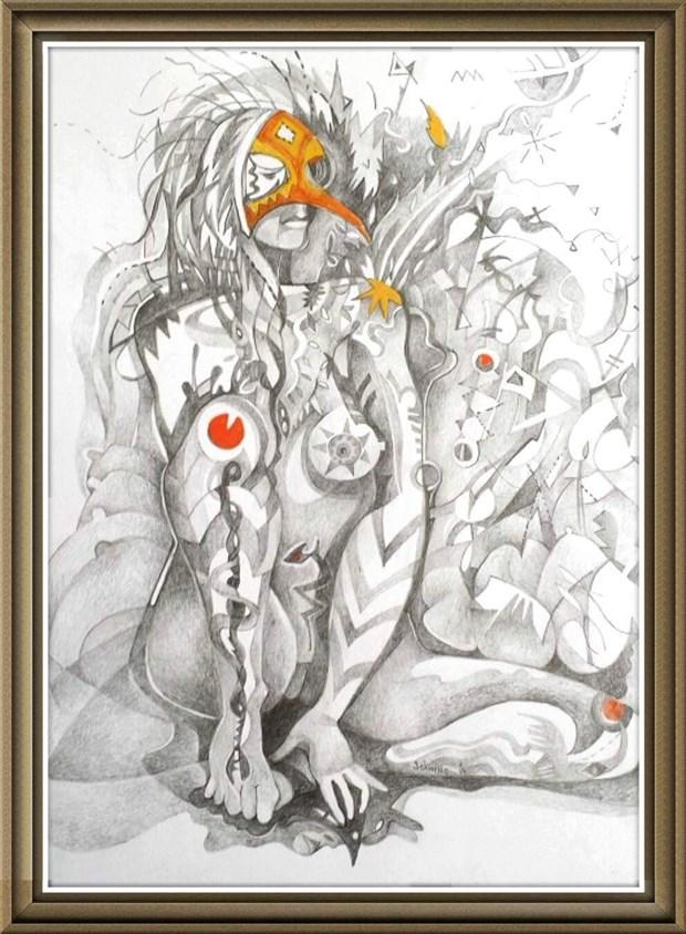 Leslie schwing  Artistic Nude Artwork by Model chikara moth