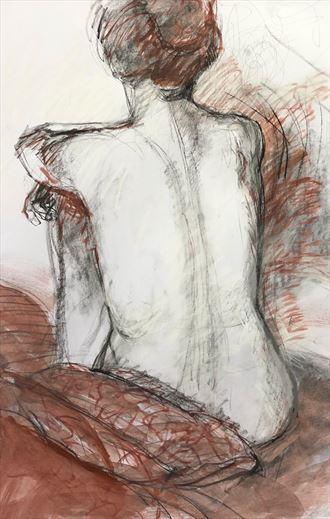 Life drawing model Artistic Nude Artwork by Artist Rod