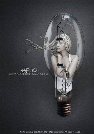 Lightbulb Photo Manipulation Photo by Artist RAFIDO