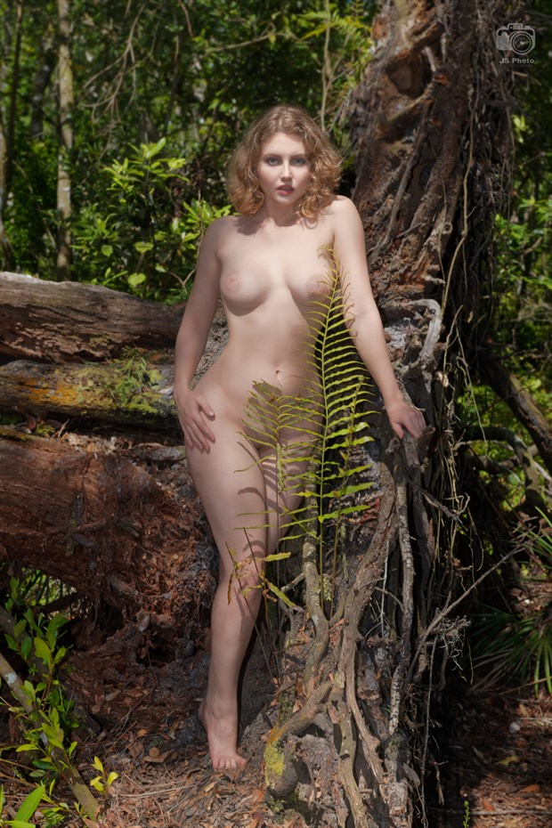 Lila Blue brightening up the dark woods  Artistic Nude Photo by Photographer jshfotos