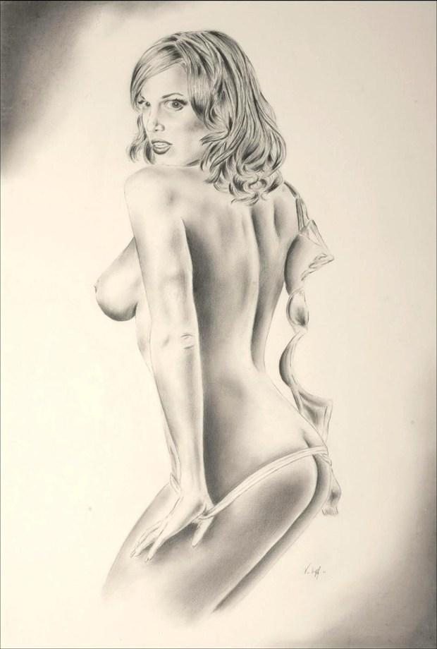 Lindsey Vuolo Artistic Nude Artwork by Artist Vincent_Wolff_Art