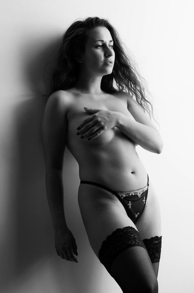 Lingerie Implied Nude Photo by Model Amanda M Esteves