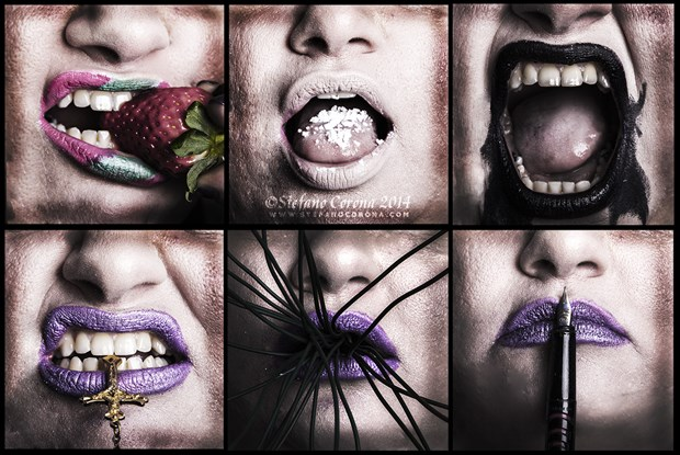 Lips Abstract Photo by Model Assilem Ozzehg