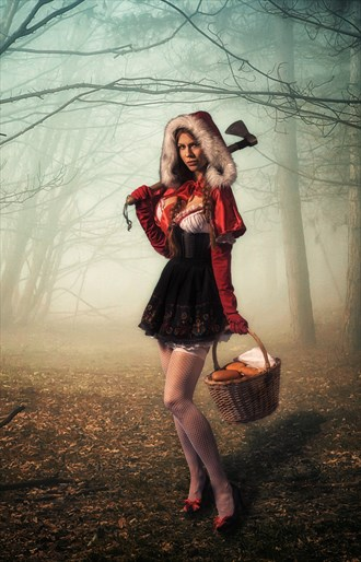Little Red Riding Hood Cosplay Artwork by Photographer V. Potemkin
