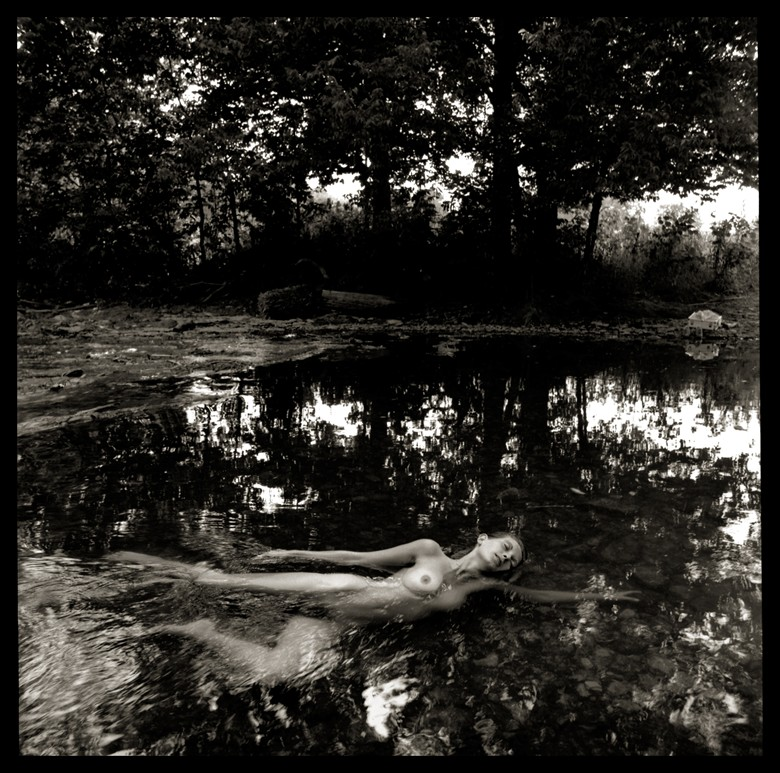 Liz Swimming in Paula's Creek Artistic Nude Photo by Photographer R. Michael Walker