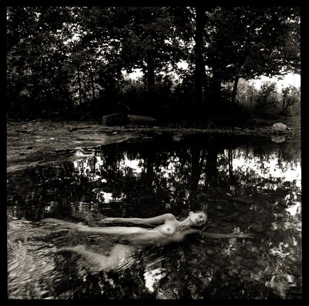 Liz Swimming in Paula's Creek Artistic Nude Photo by Photographer R. Michael Walker