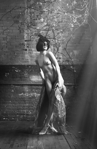 Lonely Masquerade Artistic Nude Artwork by Model Aristodeme