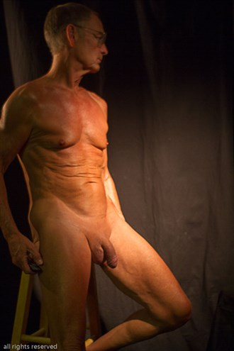 Long Pose Mature Male Artistic Nude Photo by Model John Collins El Paso TX