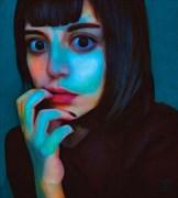 Look At Me Close Up Artwork by Artist Van Evan Fuller