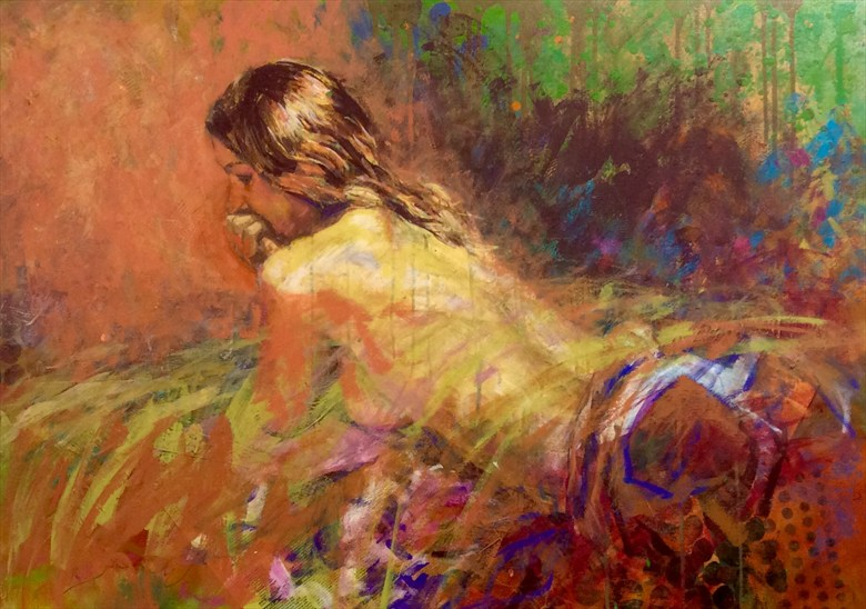 Lost in thought Artistic Nude Artwork by Artist Rod