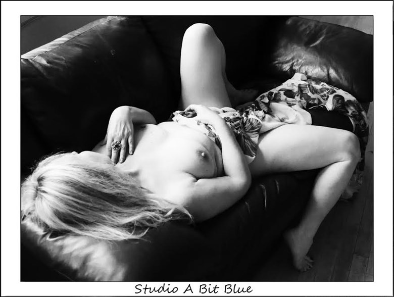 Lounging in my Studio Artistic Nude Photo by Model ZushkaBiros