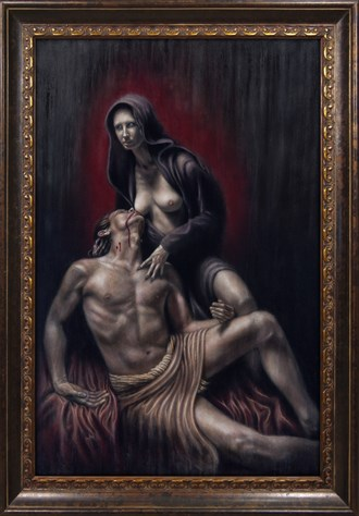 Love Song For A Vampire Erotic Artwork by Artist Divine Mania