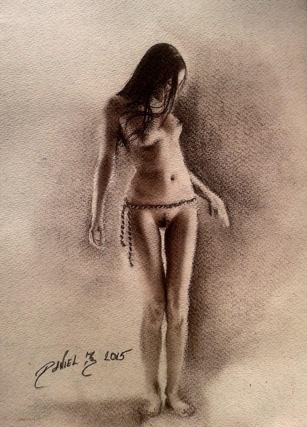 Lovely lady Artistic Nude Artwork by Artist Daniel