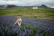 Lulu in the Lupine Artistic Nude Photo by Photographer Randall Hobbet
