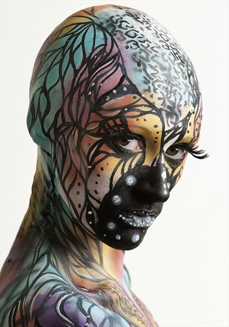 Madame Butterfly Body Painting Photo by Model D%C3%A9irdre J