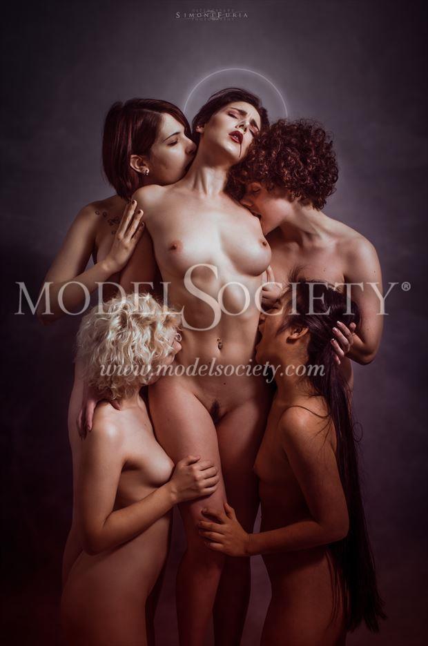 Madre del dolore Artistic Nude Artwork by Model H%C3%A9rodiade