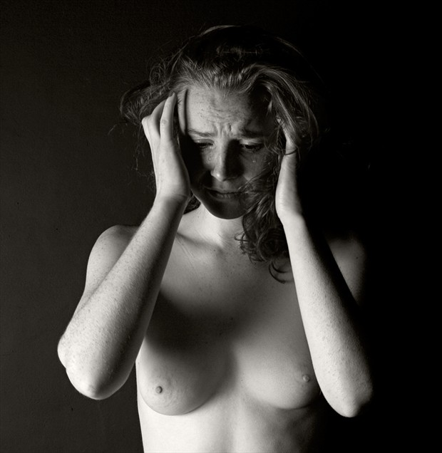 Magali crying Artistic Nude Photo by Photographer Adrian