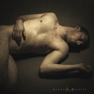 Male Nude 1711 Vintage Style Photo by Photographer Michael Bilotta