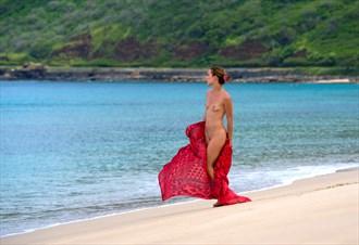 Marie on Makua beach Artistic Nude Photo by Photographer Robearth