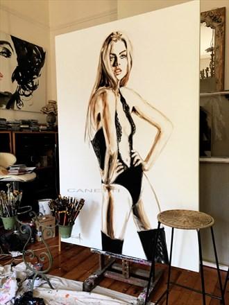 Marilin Artistic Nude Artwork by Artist Michel Canetti