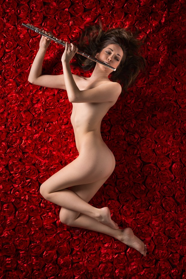 Marilyn's Musical Bed Artistic Nude Artwork by Photographer TedGlen