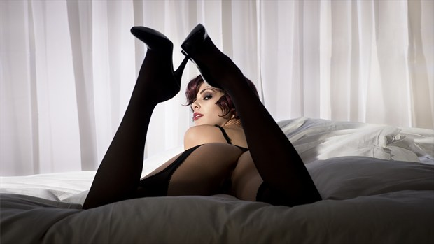 Mary lying on bed Lingerie Photo by Photographer Phil O%60Donoghue