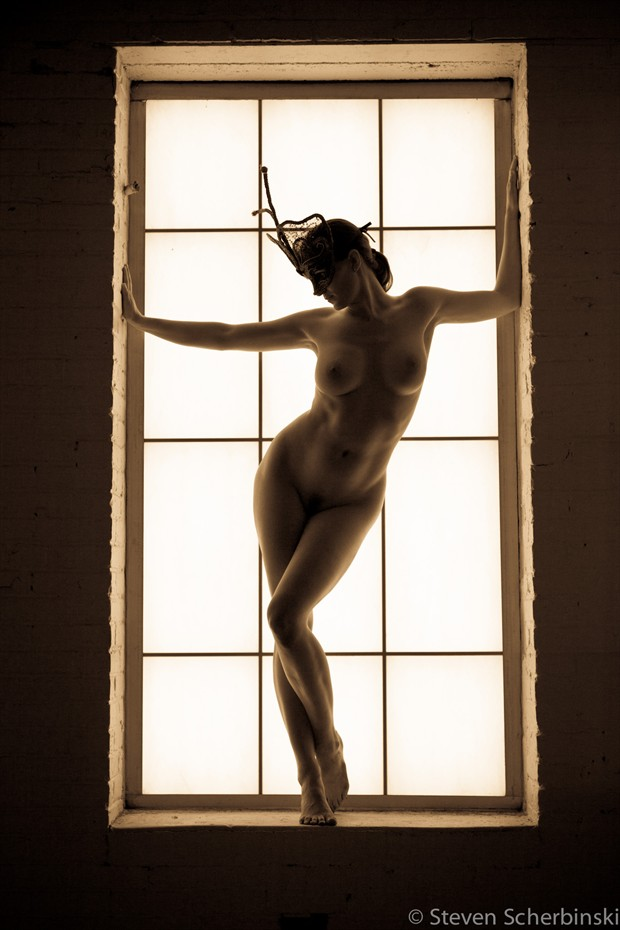 Masked Artistic Nude Photo by Model Mila