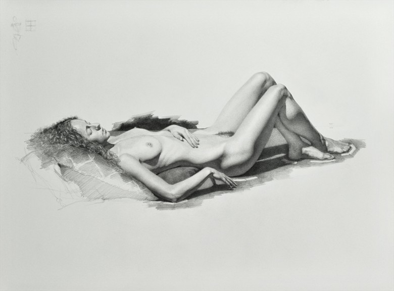 Mauvais at rest Artistic Nude Artwork by Model Mauvais