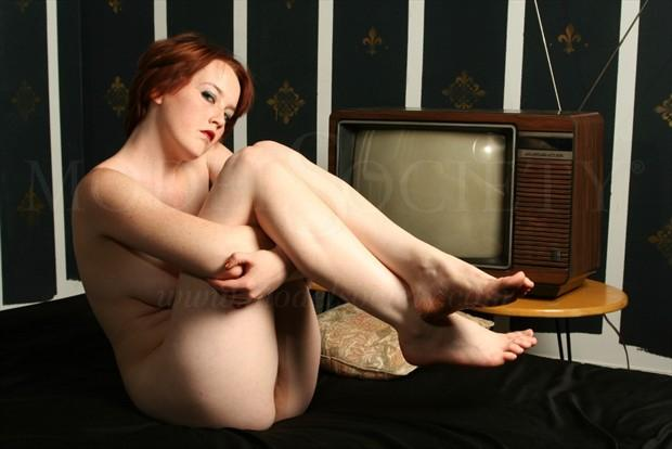 Me or the TV Artistic Nude Photo by Photographer MoorePhotoGraphix