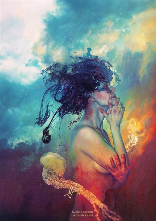 Medea Surreal Artwork by Artist Mario S. Nevado