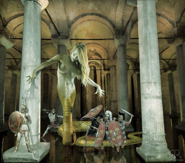Medusa Artistic Nude Artwork by Photographer Red Rayven