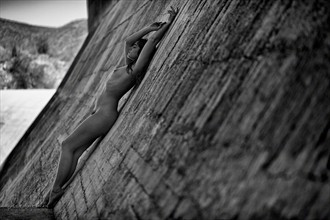 Meghan Reclining on Dam Artistic Nude Photo by Photographer BillySheahan