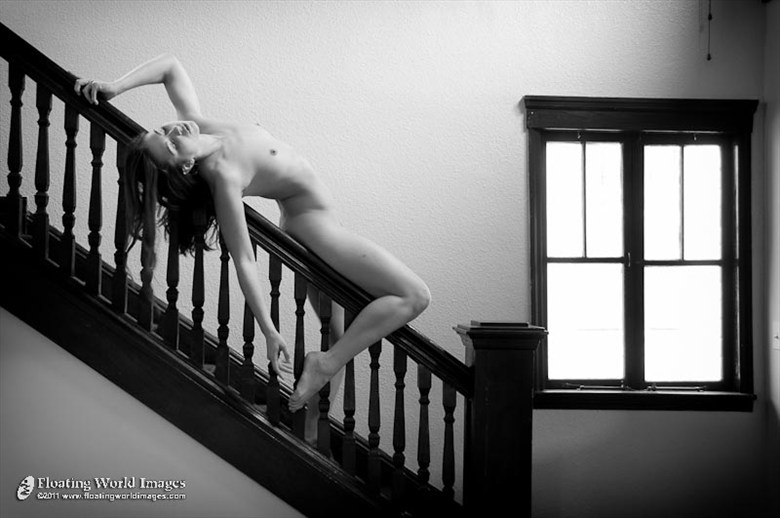 Melissa on Bannister Artistic Nude Photo by Photographer Floating World Images