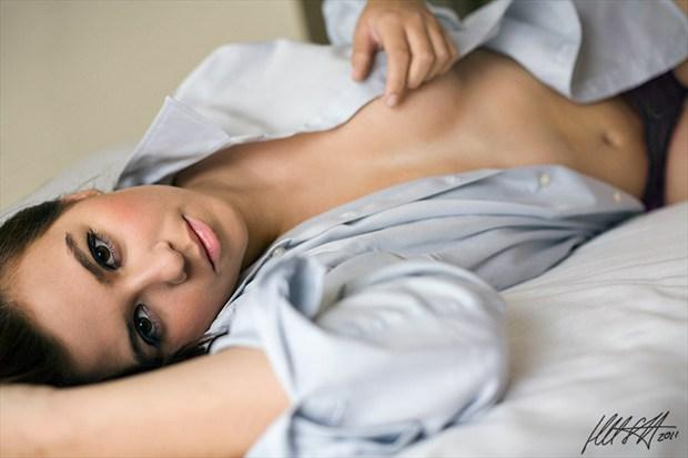 Men's Shirt Implied Nude Photo by Model Charlotte Dell'Acqua