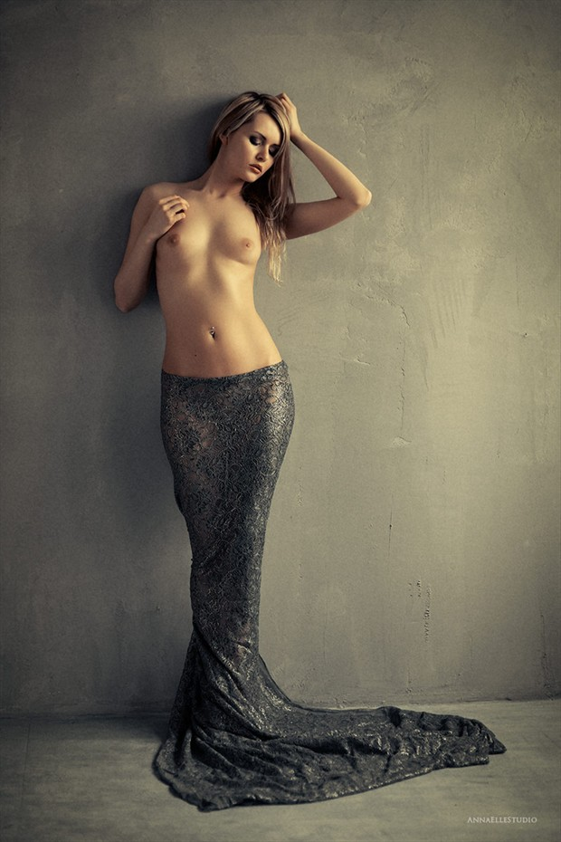 Mermaid Artistic Nude Photo by Model Carla Monaco