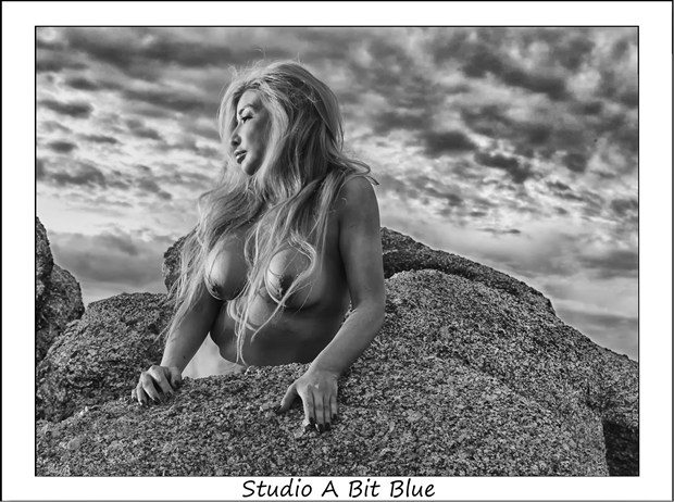 Michelle On The Rocks Artistic Nude Photo by Photographer Studio A Bit Blue