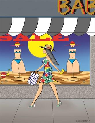 Mid Summer Sale Glamour Artwork by Artist Jack Bussmann