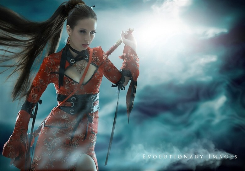 Midnight Warrior Cosplay Photo by Photographer EvolutionaryImages