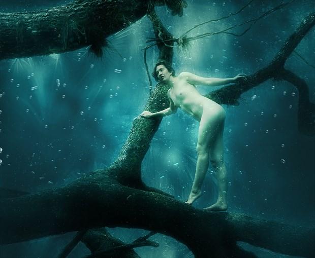 Mikki and the Deep Blue Sea Artistic Nude Artwork by Photographer Chris Gursky