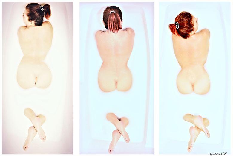 Milk Bath Three Ways Artistic Nude Photo by Photographer Barry Gallegos