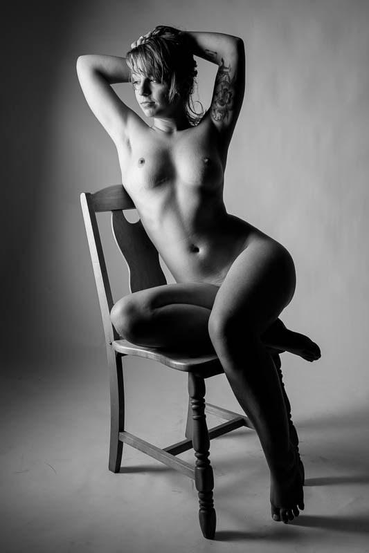 Minimalist Artistic Nude Artwork by Model Harmony Siler