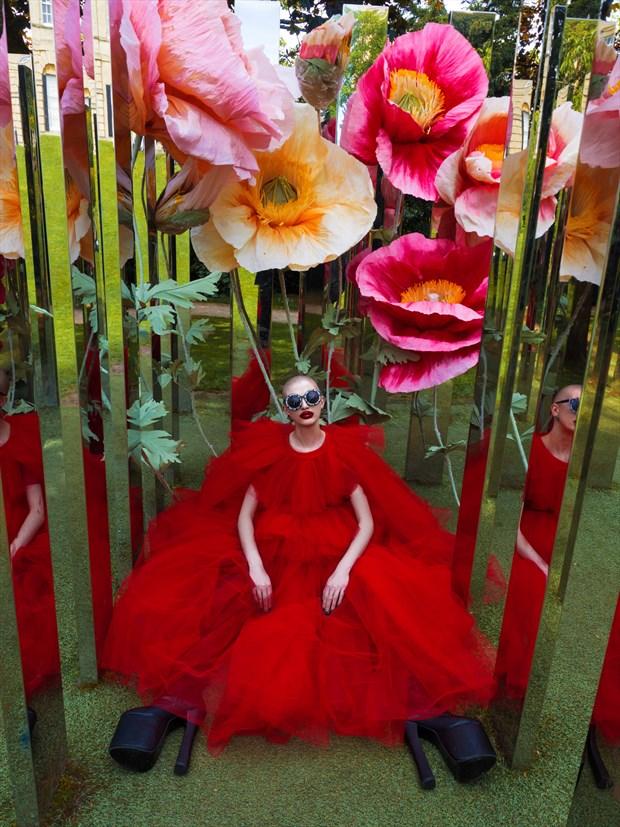 Mirror Maze  Surreal Photo by Model Talli Lyndsey