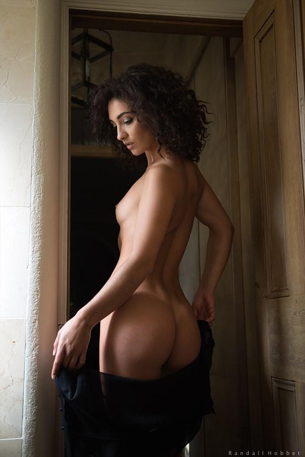 Mischkah in the doorway Artistic Nude Photo by Photographer Randall Hobbet